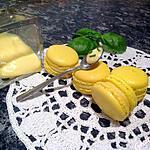 recette Macaron citron jaune basilic