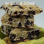 recette carrés aux flocons d'avoine et chocolat