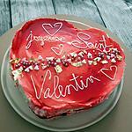 recette Cœur foret noire au mascarpone de saint valentin