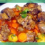 recette Queue de boeuf à la biére et aux  carottes