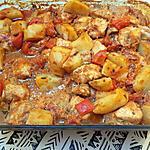 recette Pommes de terre et poulet au four