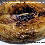 recette Tarte Tatin aux endives fromage raclette et sa sauce à la sauge et au vinaigre de Xérès