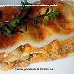recette Lasagnes fraîches à la butternut et patate douce au cabillaud en persillade