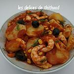 recette poêlée de crevettes et pommes de terre
