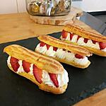 recette Eclairs chantilly fraise