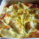 recette Flan de cabillaud, surimi au basilic & curry...