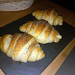 recette Croissants fourrés jambon fromage