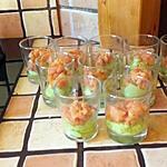 recette verrine avocat saumon
