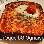 recette Mes croques bolognaise ( coeur coulant mozzarella )