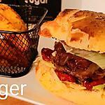 recette Burger ( tomates cerises confites et confit d' échalotes au thym )