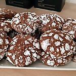 recette .Biscuits craquelés au chocolat