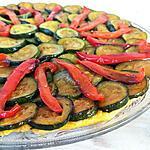 recette Tatin de courgettes au poivron rouge