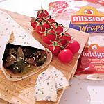 recette Wrap courgette aubergine au jambon de poulet