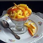 recette Salade de fruits- Mangues et Melon en Verrines