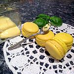 recette Macaron au citron jaune et basilic
