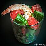 recette Verrine pamplemousse crevette épinards