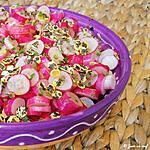 recette Salade de radis aux flocons de lentilles vertes
