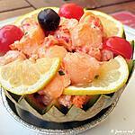 recette Melon aux gambas et sauce cocktail