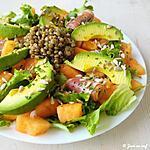 recette Salade composée avocat, lentilles et melon