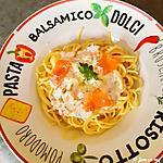 recette Spaghettis à la truite fumée