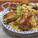 recette Chakhchoukha- Pâtes traditionnelles à l'émietté de galette- poulet et sauce blanche