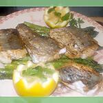 recette Filet de merlu croustillant aux asperges vertes