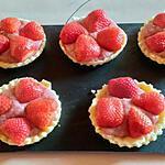 recette tartelette curd de fraise