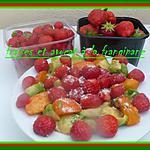 recette fraises et avocat à la frangipagne