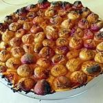 recette tarte fine au pèche de vigne épicée
