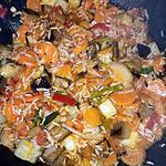 recette Poêlée riz ratatouille