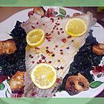 recette Aile de raie sur un lit d épinard au beurre