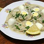 recette Oeufs de caille aux champignons et à la crème sauce au citron