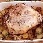 recette Gigot d'agneau cuisson lente sur lit de fleurs de thym et romarin