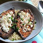 recette Patate douce au four, féta et boulgour