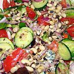 recette Salade de haricots doliques (black-eyed peas) à la grecque