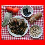 recette Ragoût de chevreau aux pruneaux secs, pois chiches et épices douces