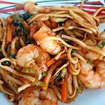 recette Nouilles Chinoises Sautée Crevettes Légumes Chinois