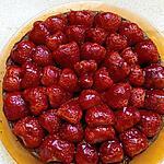 recette tarte sans pate chocolat aux fraises
