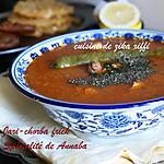 recette Jari bel frick blé vert torréfié et concassé-Chorba typique de Annaba