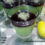 recette Verrines de panna cotta d'avocat aux fruits rouges et citron caviar