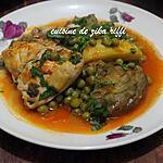 recette Tajine de petits pois aux artichauts et poulet - marka jelbena bel karnoun