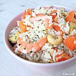 recette Salade de riz aux crevettes, pomelo et noix de cajou