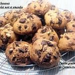 recette Cookies bananes et chocolat noir aux amandes