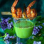 recette Crémeux à la Cardamine des près et crevettes Taï