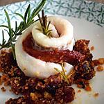 recette Roulé de filet de merlan au chorizo