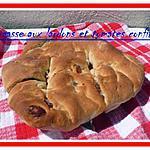 recette FOUGASSES AUX LARDONS ,TOMATES CONFITS ET ORIGAN