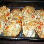 recette Aubergines farcies au poulet
