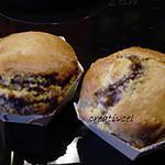 recette Gros muffins bananes/chocolat(sans beurre)(prépa 10mns)