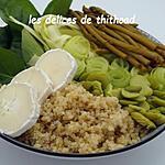 recette green bowl au quinoa et fromage de chèvre