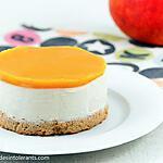 recette CHEESECAKE VANILLE MANGUE sans gluten, sans lactose, avec ou sans sucre